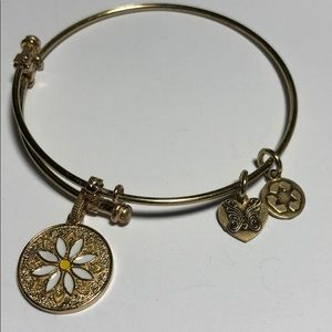 Bracelet with Enamel Flower Symbol